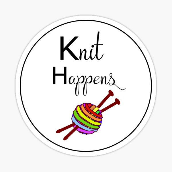 Knit happens Sticker