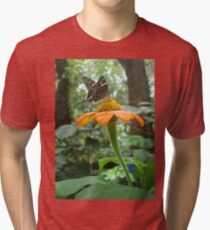Long-tailed Skipper on Mexican Sunflower Tri-blend T-Shirt