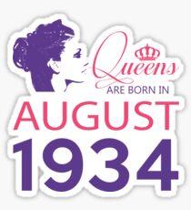 It's My Birthday 84. Made In August 1934. 1934 Gift Ideas. Sticker