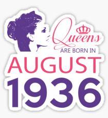 It's My Birthday 82. Made In August 1936. 1936 Gift Ideas. Sticker