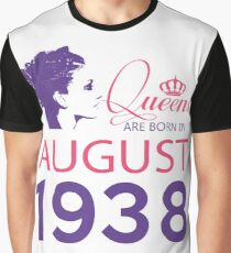It's My Birthday 80. Made In August 1938. 1938 Gift Ideas. Graphic T-Shirt