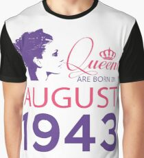 It's My Birthday 75. Made In August 1943. 1943 Gift Ideas. Graphic T-Shirt