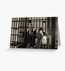 Jailbirds by Colin Harper Greeting Card