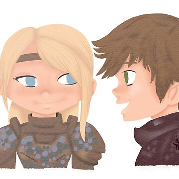 Hiccup x Astrid - The hidden world fanart by liajung
