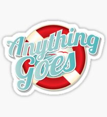 Anything Goes musical  Sticker