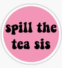 Pegatina derramar el té sis