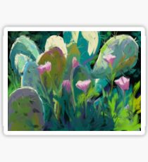 Cactus and California Poppies Sticker