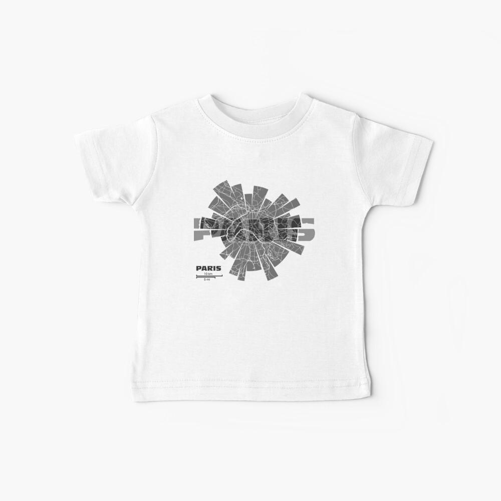 Paris Map Baby T-Shirt