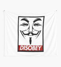 Guy Fawkes Disobey Wall Tapestry