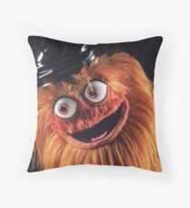 """Flyers New Mascot """"Gritty"""" Throw Pillow"""