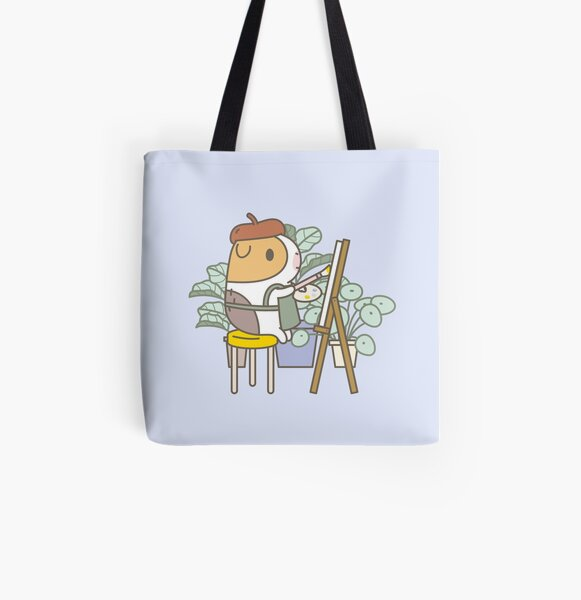 Bubu the Guinea Pig, Painter  All Over Print Tote Bag
