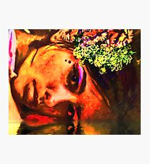 Little Flowers In Her Hair Photographic Print