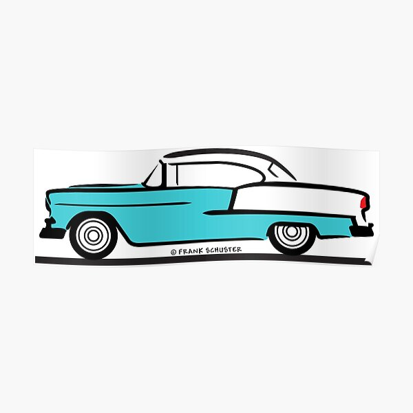 1955 Chevrolet Hardtop Coupe Poster