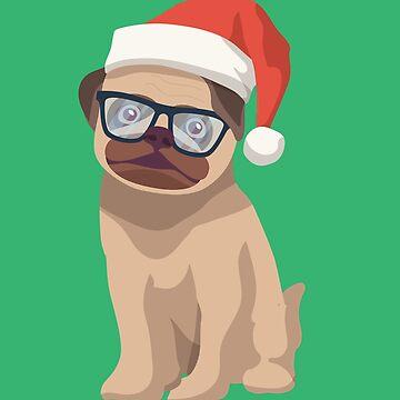 Fanny Christmas Pug Teacher by AYmanee