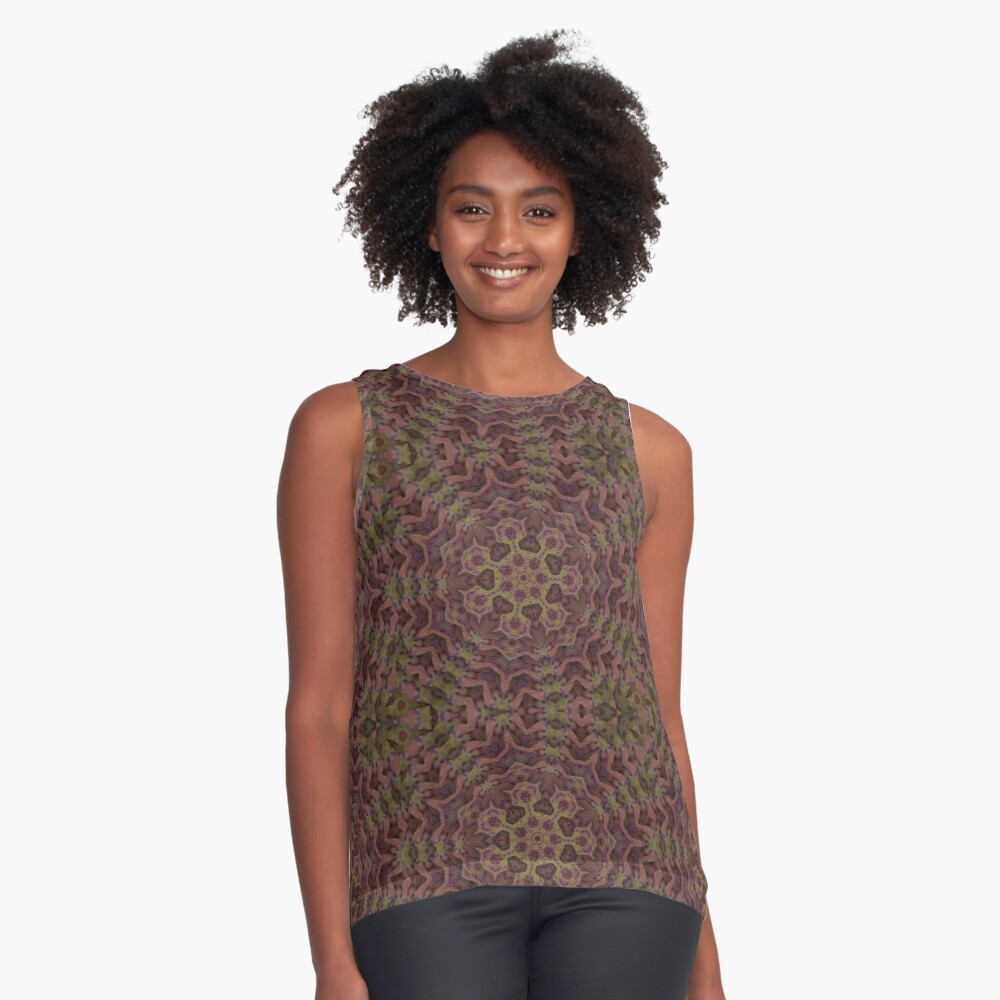 Alien Bacteria from the Black Lagoon of Space Sleeveless Top