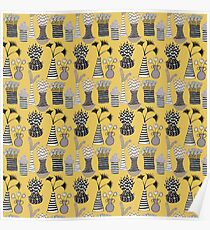 Vases and Stripes Poster