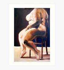 Goddess In Modeling Chair Work Progress Art Print