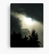 Stormy weather over the Olympics  Canvas Print