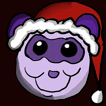 Christmas Panda Head by Rajee