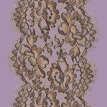 Ediemagic Lavender & Brown Lace by Ediemagic