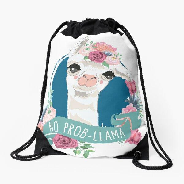 No Prob-Llama Drawstring Bag