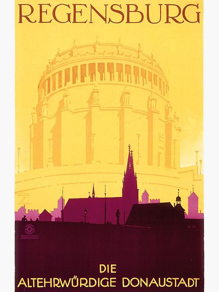 Regensburg Vintage Travel Poster  by edsimoneit
