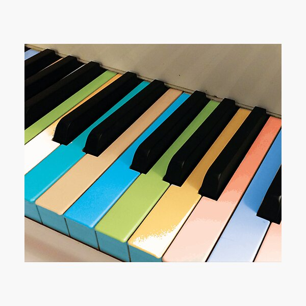 Colored Piano Keys by Jerald Simon (Music Motivation - musicmotivation.com) Photographic Print