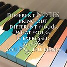 Different Notes Produce Different Moods on the Piano by Jerald Simon (Music Motivation - musicmotivation.com) by jeraldsimon