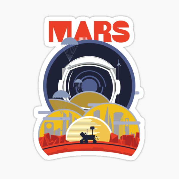 Mars Mappers Sticker