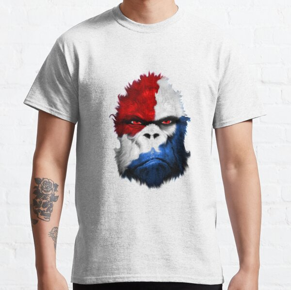National Cryptid Society Red White and Blue Patriotic Bigfoot / Sasquatch Classic T-Shirt