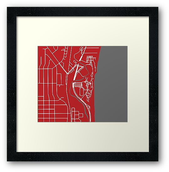 Carthage College Campus Map Framed Prints By Zsonn Redbubble