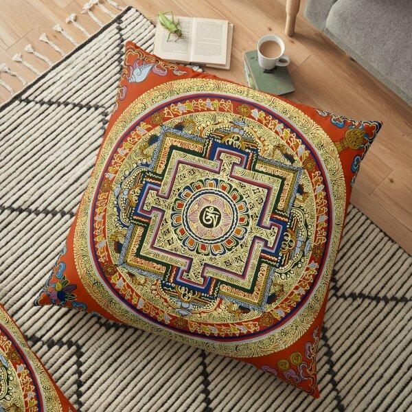 Tibetan Mandala Floor Pillow