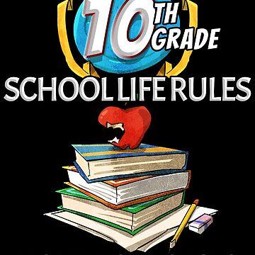Funny 10th Grade. Loves School. Hates Homework by grogblossom