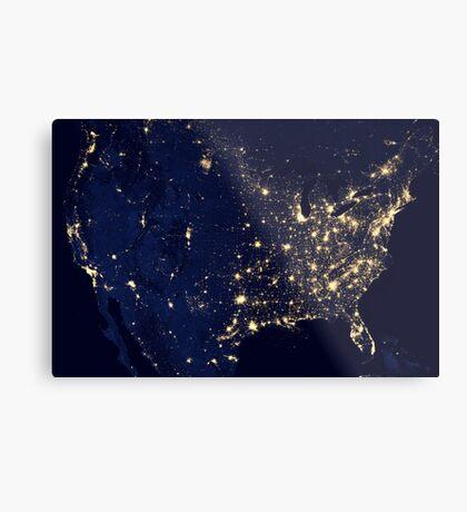 USA by Night Metal Print