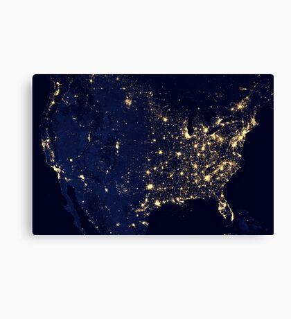 USA by Night Canvas Print