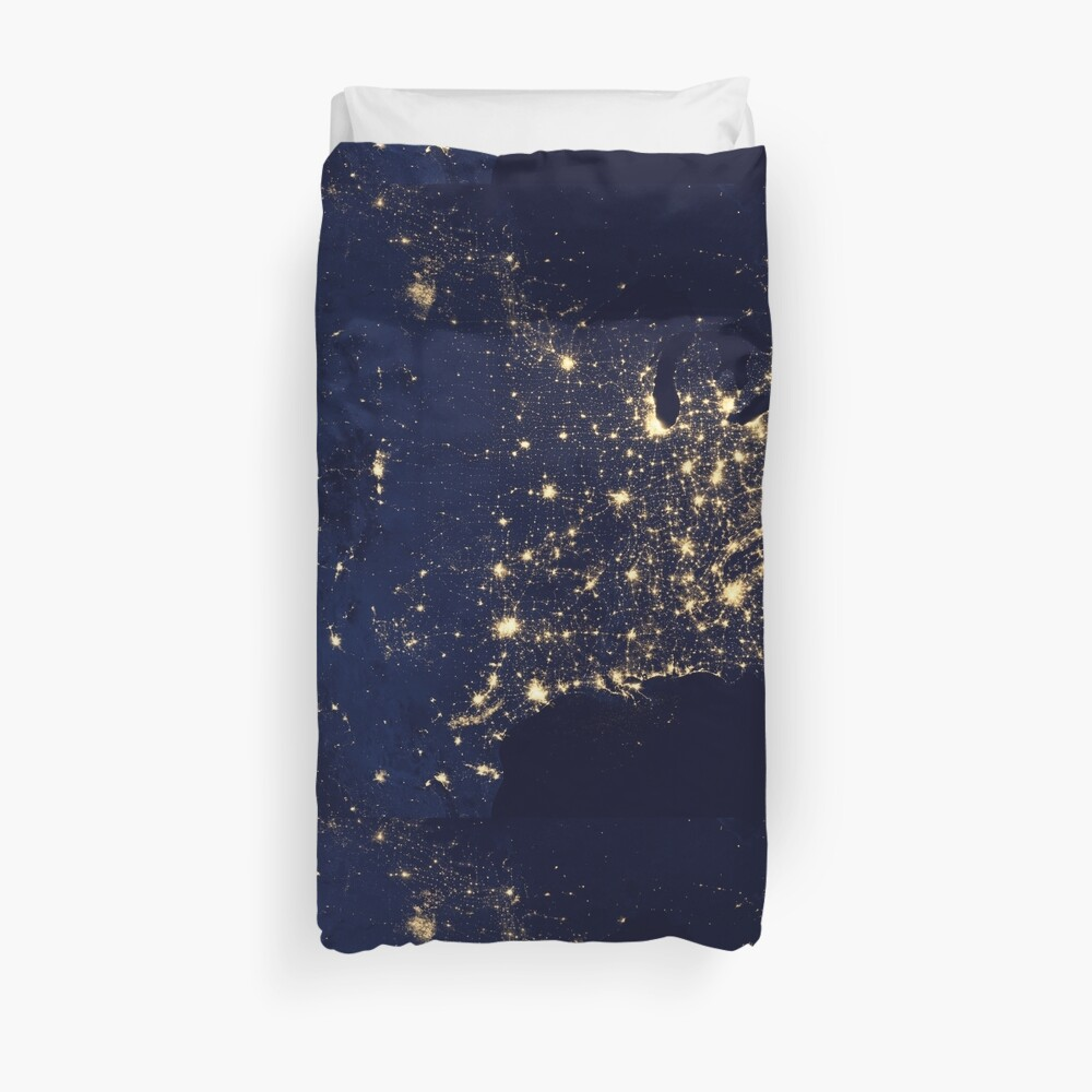 USA by Night Duvet Cover