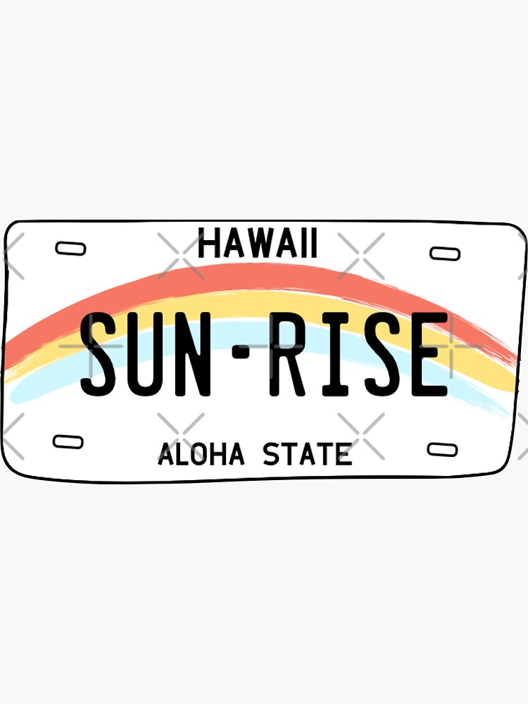 Hawaii Sun Rise License Plate by sflissler