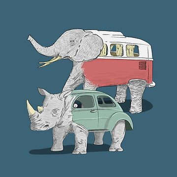 Kombiphant and the rhino-beetle by pencilfury