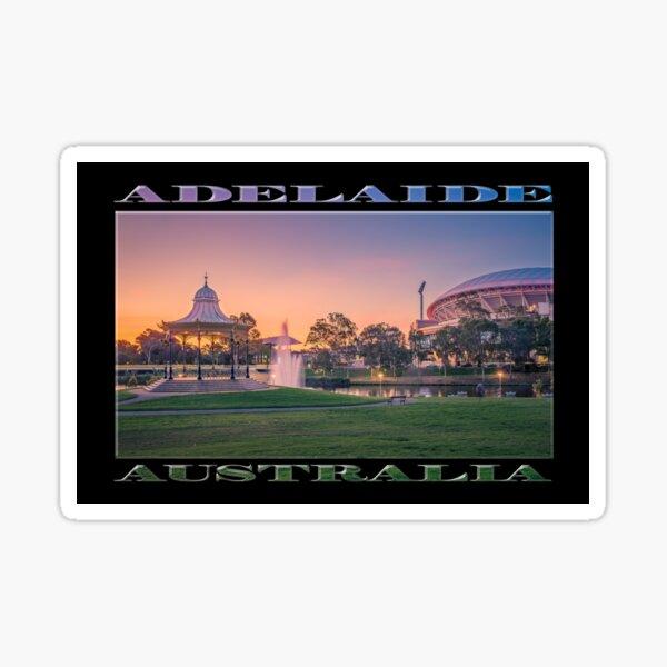 Adelaide Sunset (poster on black) Sticker