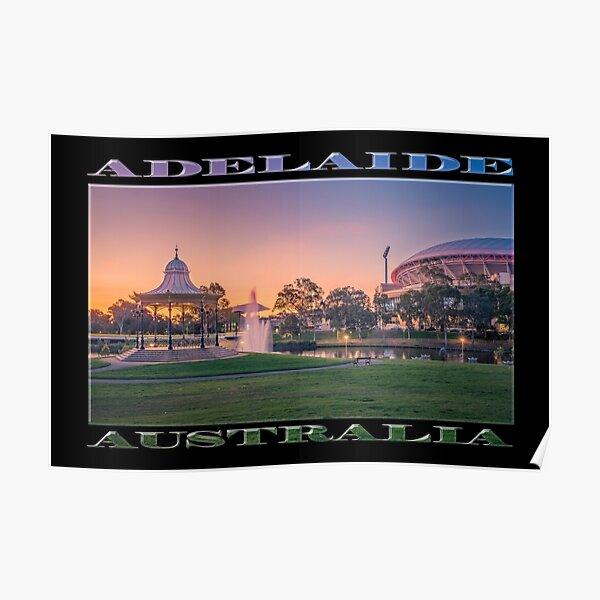 Adelaide Sunset (poster on black) Poster