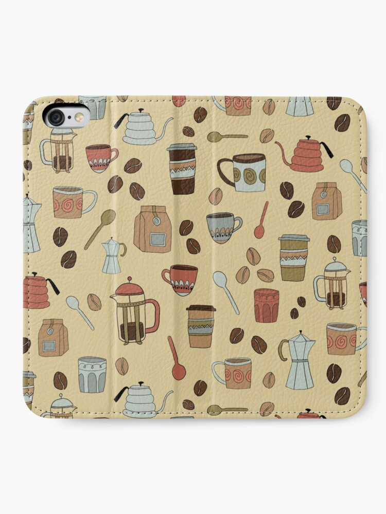 Alternate view of Coffee Lover Pattern iPhone Wallet