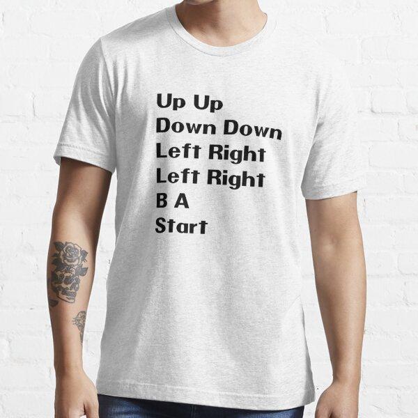 Nintendo Contra Konami Code Haut Bas Gauche Droite T-shirt essentiel