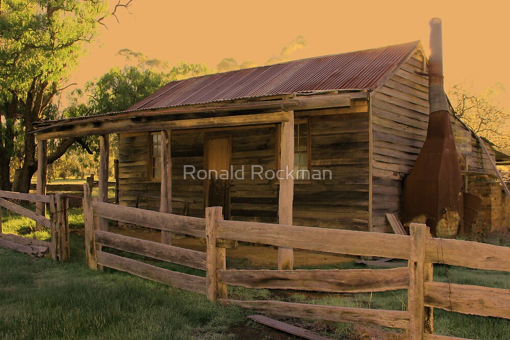 Old Timber Dwelling Along The Track by Ronald Rockman