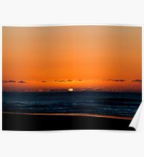 Sunrise  in  the cold Poster