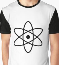 #atom #science #symbol #abstract #3d #atomic #isolated #sphere #nuclear #molecule #blue #illustration #physics #chemistry #technology #molecular #orbit #electron #energy #circle #icon #sign #white Graphic T-Shirt