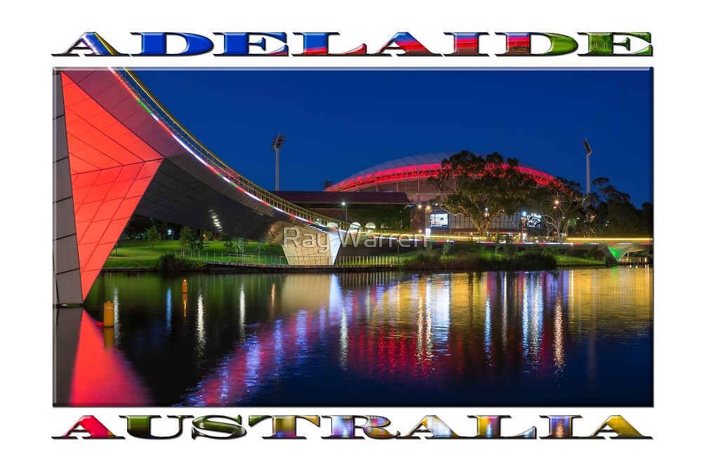 Adelaide Oval Elegance (poster on qhite) by Ray Warren