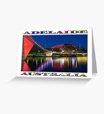 Adelaide Oval Elegance (poster on white) Greeting Card