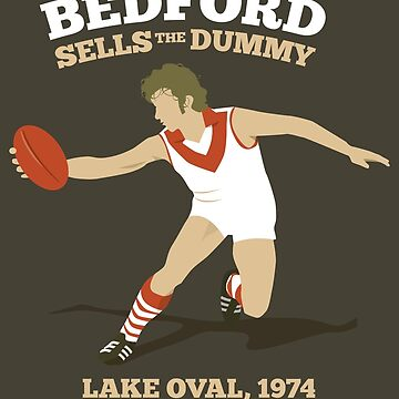 Peter Bedford, South Melbourne (for dark shirts only) by 4boat