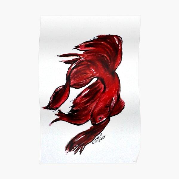 Art Doodle No. 36 Betta Fish Poster