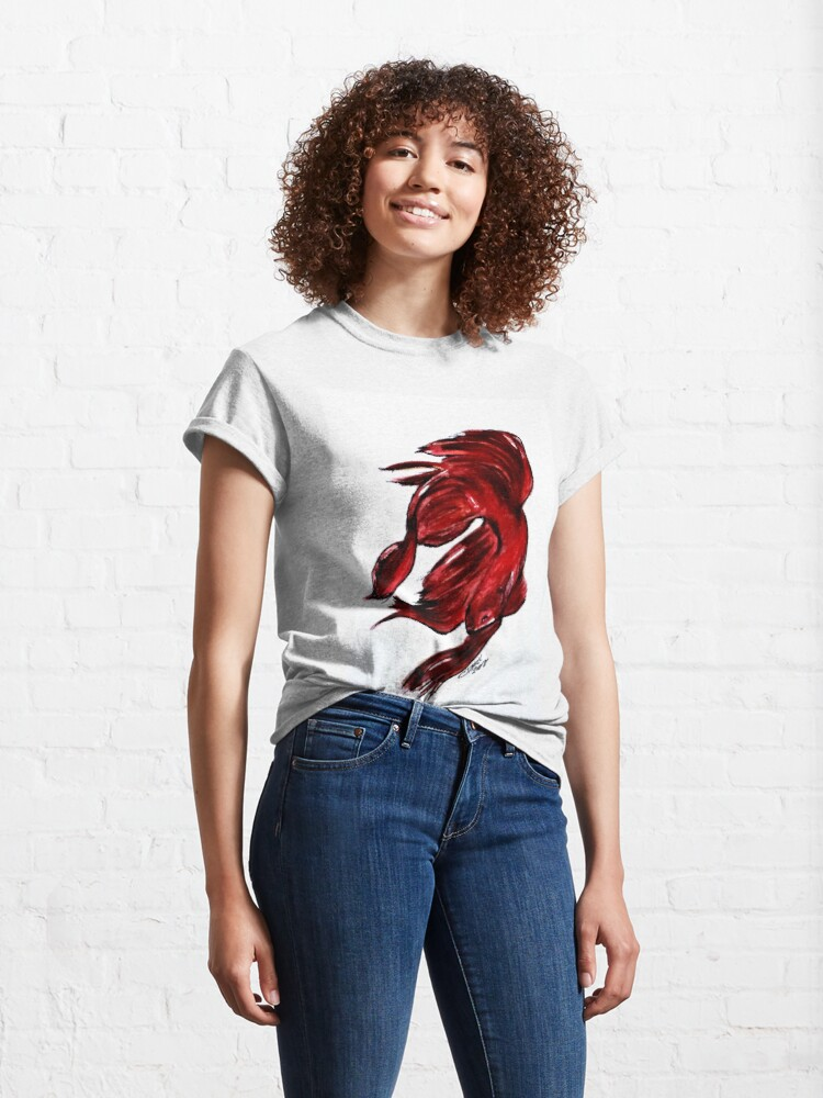 Alternate view of Art Doodle No. 36 Betta Fish Classic T-Shirt